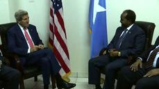 Mogadishu has traffic jams! - Somali president to Kerry
