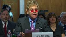Elton John appeals for congressional help to end AIDS