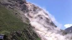 Video shows landslide triggered by latest Nepal quake