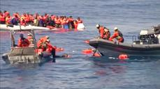 German navy rescues 880 migrants at sea near Libya
