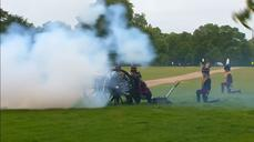 Gun salutes mark anniversary of Queen's coronation
