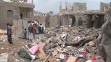 Sanaa residents assess Saudi air strike damage