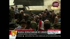 Indonesian military plane crashes