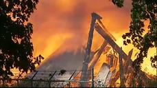 Fire destroys historic Oregon stadium