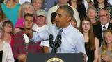 Obama touts new jobs numbers as U.S. joble