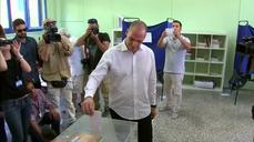 Greek Finance Minister votes on referendum, says will resign if Greeks vote 'yes'