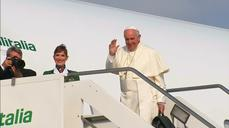 Pope heads to South America