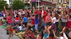 Fans celebrate U.S. Women's World Cup victory