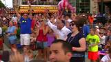 Fans celebrate US Women's World Cup win