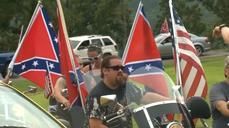 Hundreds rally for Confederate flag
