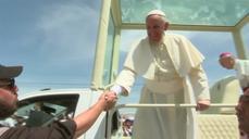 Pope Francis greets thousands at Ecuador mass