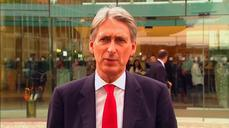"UK's Hammond: ""clear will"" to complete Iran deal"