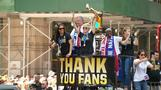 Women's World Cup soccer champs cheered in NYC