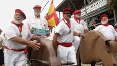 Hemingway's look-alikes run with the bulls