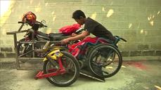 Indonesian mechanic's adapted motorbikes help disabled riders