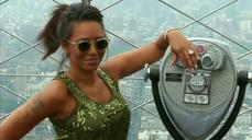 "Mel B stops by the Empire State Building to promote her show ""America's Got Talent"""
