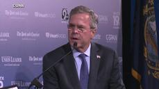 "Jeb Bush says U.S. has ""let guard down"" with terrorism threats"