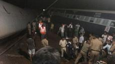 Twin trains derailed after Indian floods