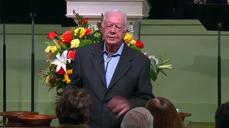 Jimmy Carter details cancer treatment in Bible study