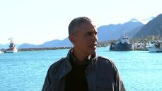 Obama takes a boat tour of Kenai Fjords Park in Alaska