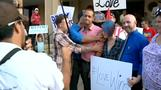 Protesters gather for Kentucky clerk's hearing