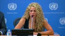 "Shakira says children should not ""pay the price of war"""