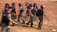 Clashes in Jordan over Israeli-Palestinian violence