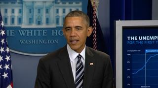 Obama says U.S. unemployment down, wages up