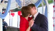 Russian couples experience new heights of love