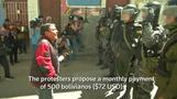 Bolivian police, protesters clash over disability pay
