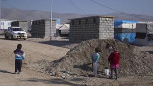 Life in the camp for Yazidi refugees