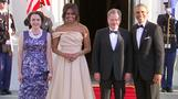 Obamas welcome Nordic leaders to state dinner