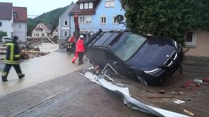 Floods, storms kill four in Germany