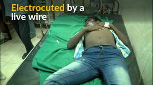 Live wire falls on bus, electrocuting Indian students