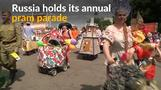 Fancy prams paraded through Moscow