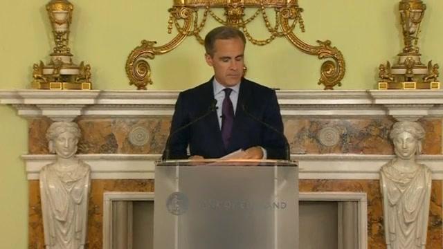 英国央行总裁认为需追加刺激措施 抵消脱欧冲击