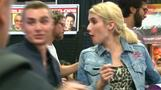 Dave Franco and Emma Roberts sign autographs as they promote 'Nerve' at Comic Con