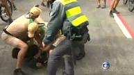 Man tackled for trying to grab Olympic torch