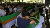 Angry protest at funeral of Turkish bomb victims