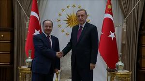 Iraqi Kurdish leader meets Erdogan