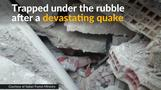 Italy quake survivor trapped under rubble