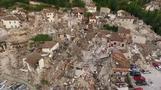 Italian hillside town in ruins after quake