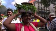 Hindu devotees color streets of Paris in celebration of Ganesh