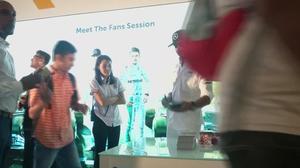 Hamilton and Rosberg meet fans in Kuala Lumpur