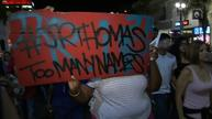 Demonstrators protest death of black man in California