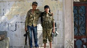 Young rebels look to Aleppo, without Turkish backers