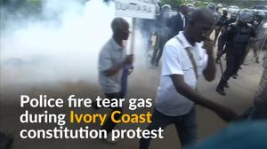 Ivorians protest constitution change