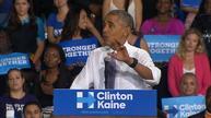 Obama says election isn't