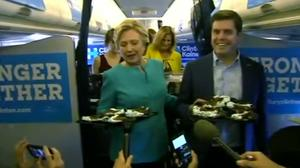 Clinton celebrates birthday with chocolate cake, says she feels