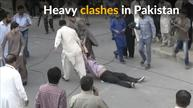 Fierce clashes rock Pakistani city